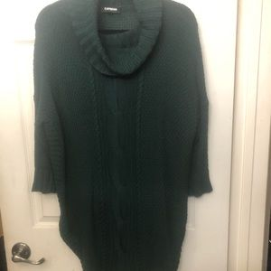 Express long sweater w/round bottom & side slits